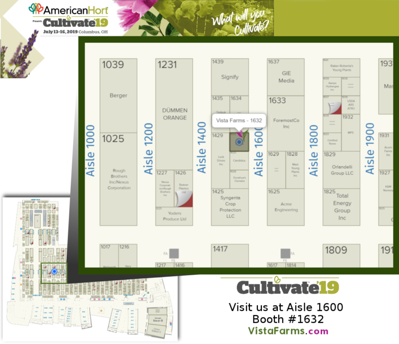 Cultivate Expo 2019 Floorplan - VIsta Farms - 1632